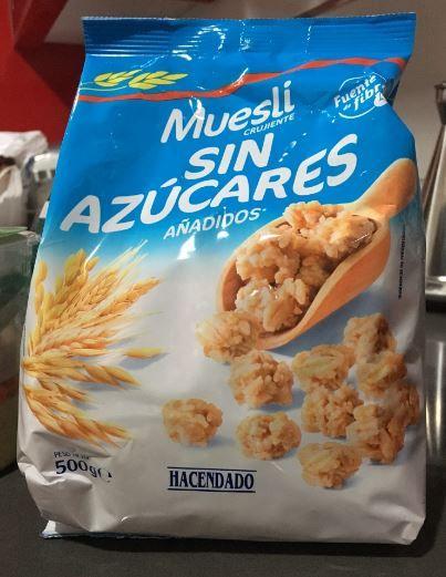 muesli sin azúcar