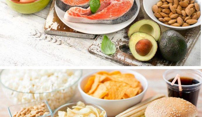 grasas buenas y malas