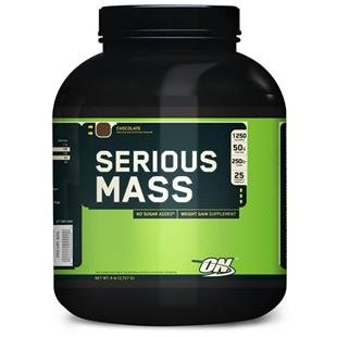 Optimum Nutrition - Serious Mass sabor Fresa 2720g M