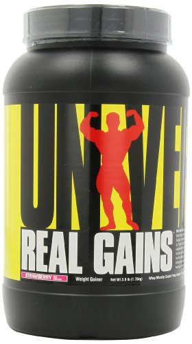 Universal Nutrition Real Gains, Strawberry Ice Cream, 3.8-Pounds