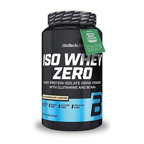 BioTechUSA Iso Whey ZERO, Lactose, Gluten, Sugar FREE, Whey Protein Isolate, 908 g, Chocolate blanco